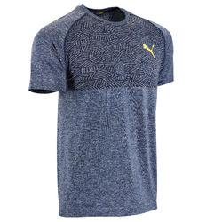 T-Shirt Seamless Cardio-/Fitnesstraining Herren blau