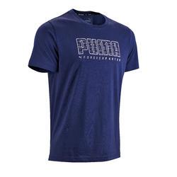 Camiseta Manga Corta Gimnasia Pilates Puma SS19 Hombre Azul