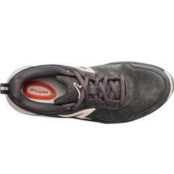 Chaussures marche sportive femme HW 540 cuir gris foncé