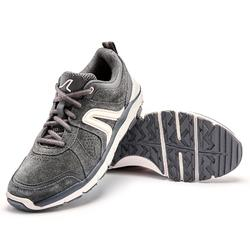 Damessneakers voor sportief wandelen HW 540 leer donkergrijs
