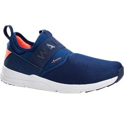 Calcetines de marcha deportiva para mujer PW 160 Slip On azul marino