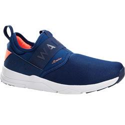 Damessneakers voor sportief wandelen Slip-On marineblauw