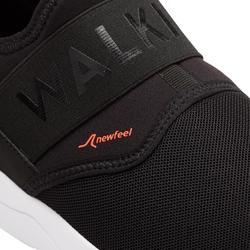 Freizeitschuhe Walking PW 160 Slip-On Herren schwarz/orange