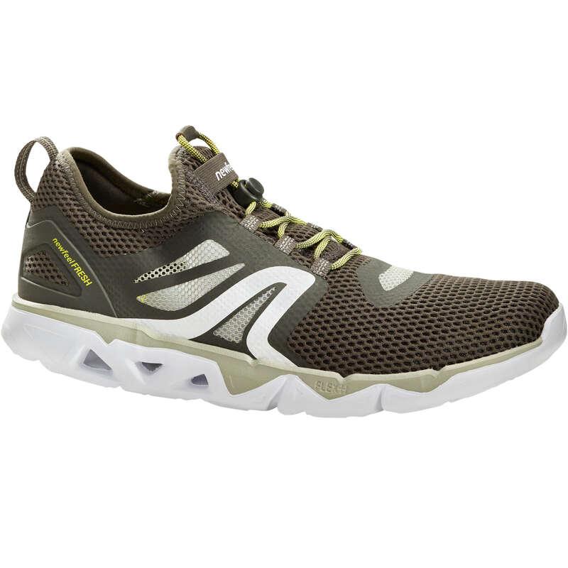 MEN SPORT WALKING SHOES Hiking - PW 500 Fresh - Khaki Green NEWFEEL - Outdoor Shoes