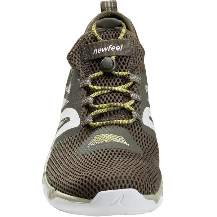 Zapatillas de marcha deportiva para hombre PW 500 Fresh verdes caqui