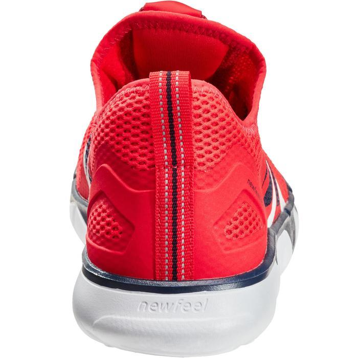 Herensneakers voor sportief wandelen PW 500 Fresh rood