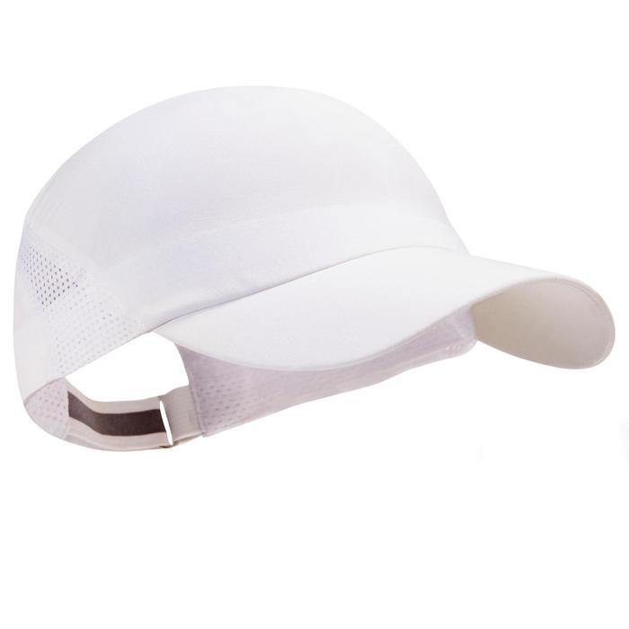 Lauf-Cap verstellbar weiß Erwachsene