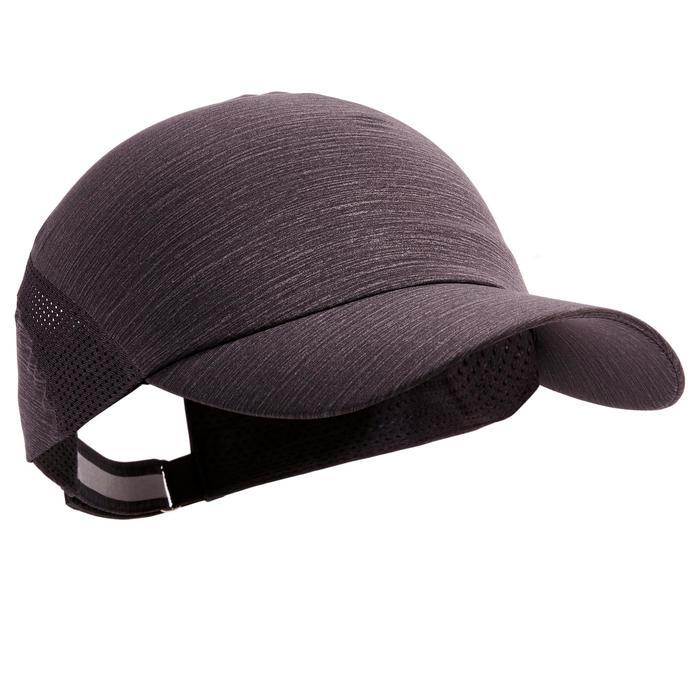 Lauf-Cap verstellbar schwarz/grau meliert Erwachsene