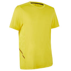 RUN DRY+ BREATHE MEN'S RUNNING T-SHIRT - YELLOW