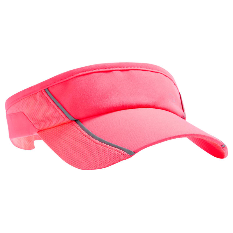 b8df1fc21 RUNNING VISOR ADJUSTABLE, PINK CORAL, HEAD SIZE 50 TO 62 CM, MEN WOMEN