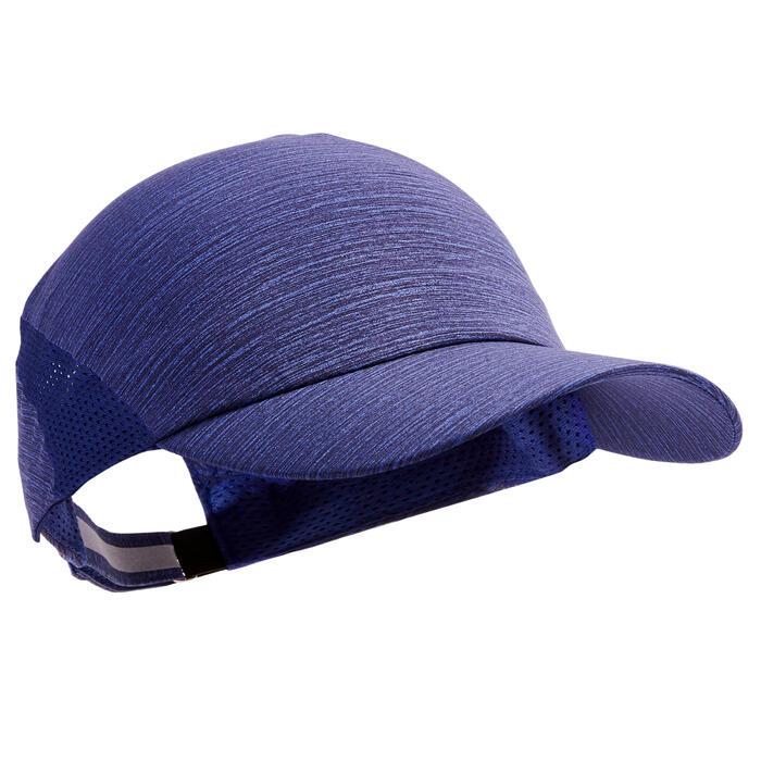 Lauf-Cap verstellbar blau meliert Erwachsene