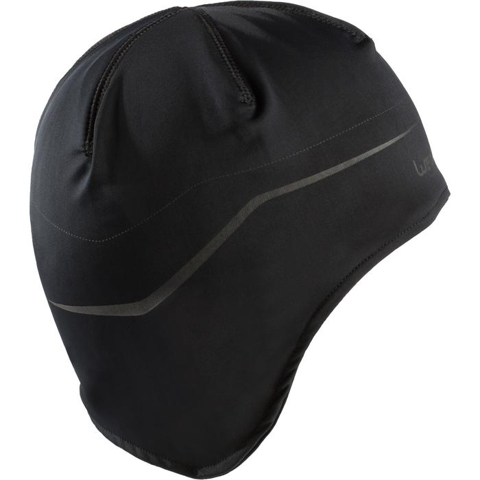 Unterzieh-Ski-Mütze Kinder schwarz