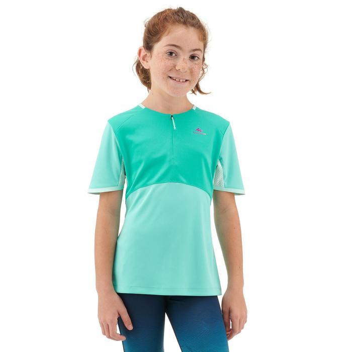 T Shirt de randonnée - MH550 turquoise - enfant 7-15 ans