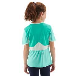 Camiseta de senderismo niños 7-15 años MH550 turquesa