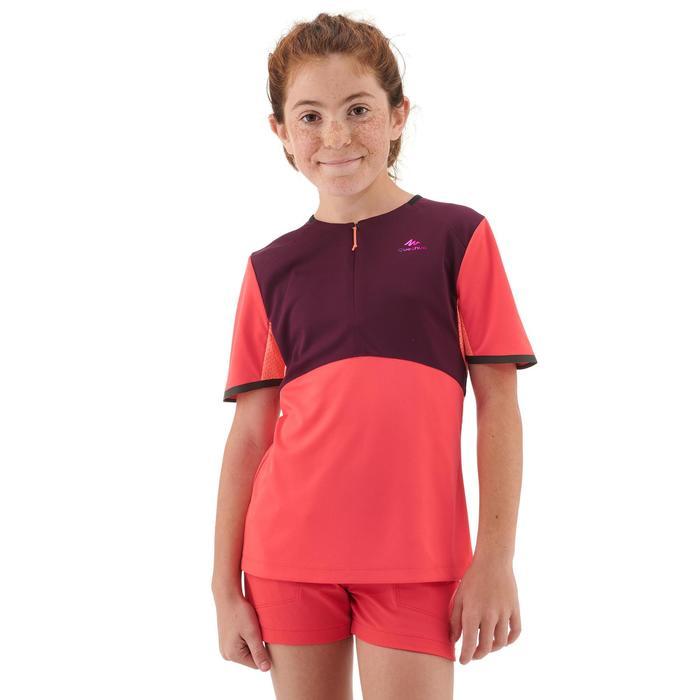 Camiseta de senderismo niños 7-15 años MH550 coral