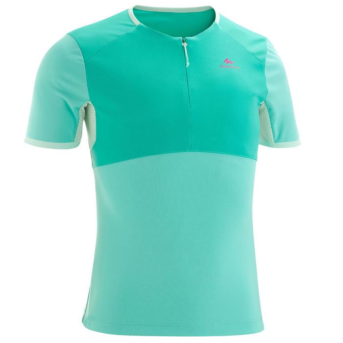 T-Shirt de randonnée - MH550 turquoise - enfant