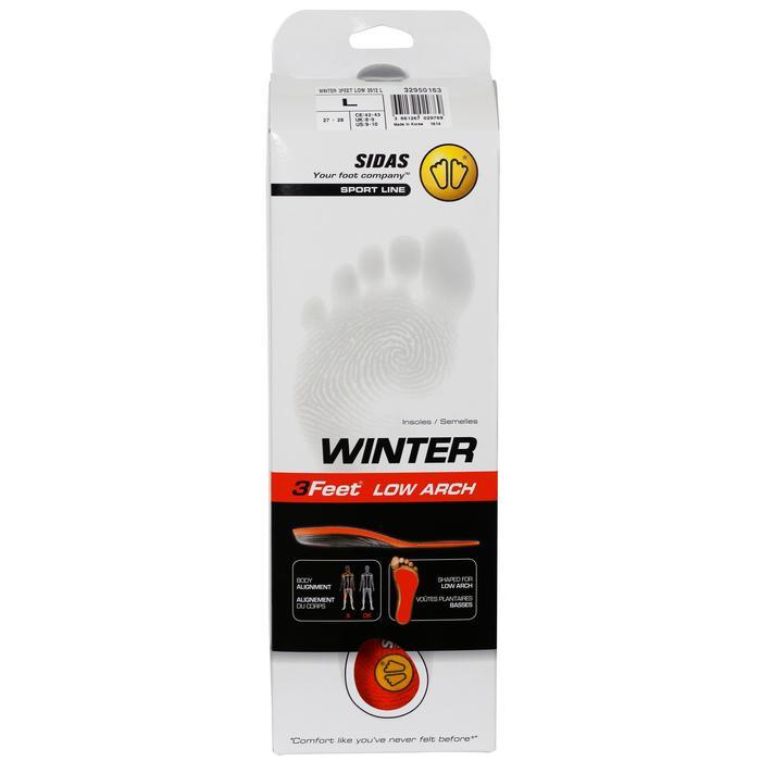 Inlegzolen voor skischoenen voor lage voetholtes