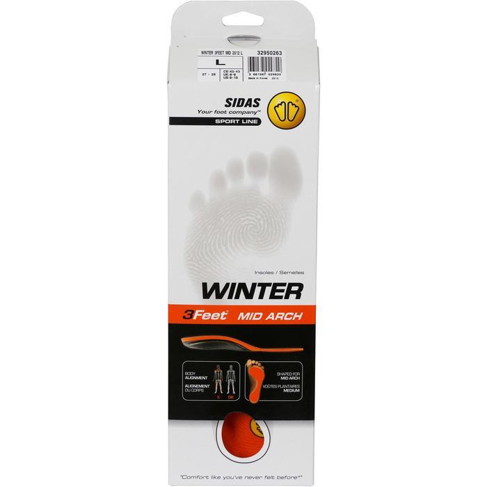 Inlegzolen voor skischoenen voor gemiddelde voetholtes