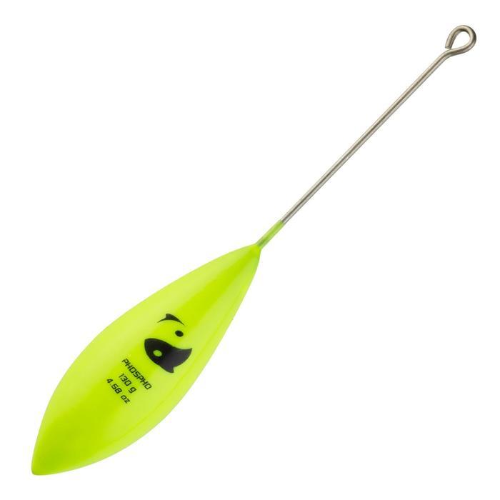 Bol loodje met staaf fluogeel voor surfcastinghengelen x2