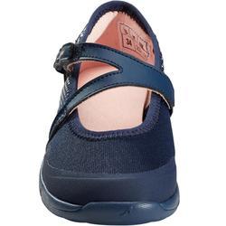 Meisjes ballerina's voor wandelen PW 160 Br'easy marineblauw