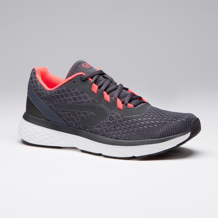 Hardloopschoenen voor dames Run Support grijs koraalrood
