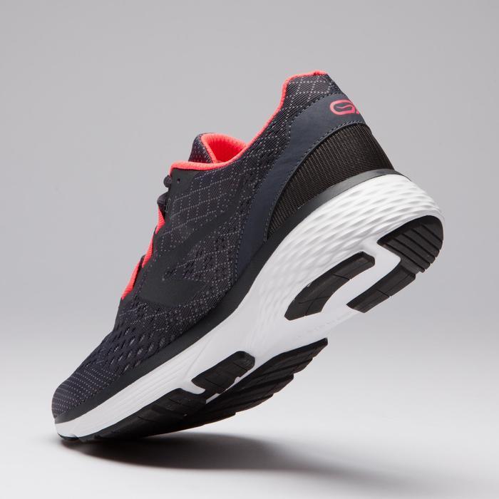 Laufschuhe Run Support Damen grau/koralle