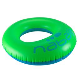 Flotador adulto azul y verde 94 cm con forma ergonómica priorizando el confort