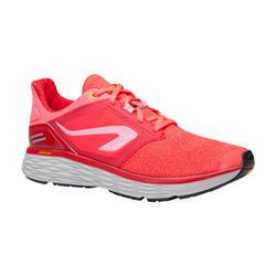 Zapatillas Running Kalenji Run Confort Mujer Rosa Coral Fluorescente