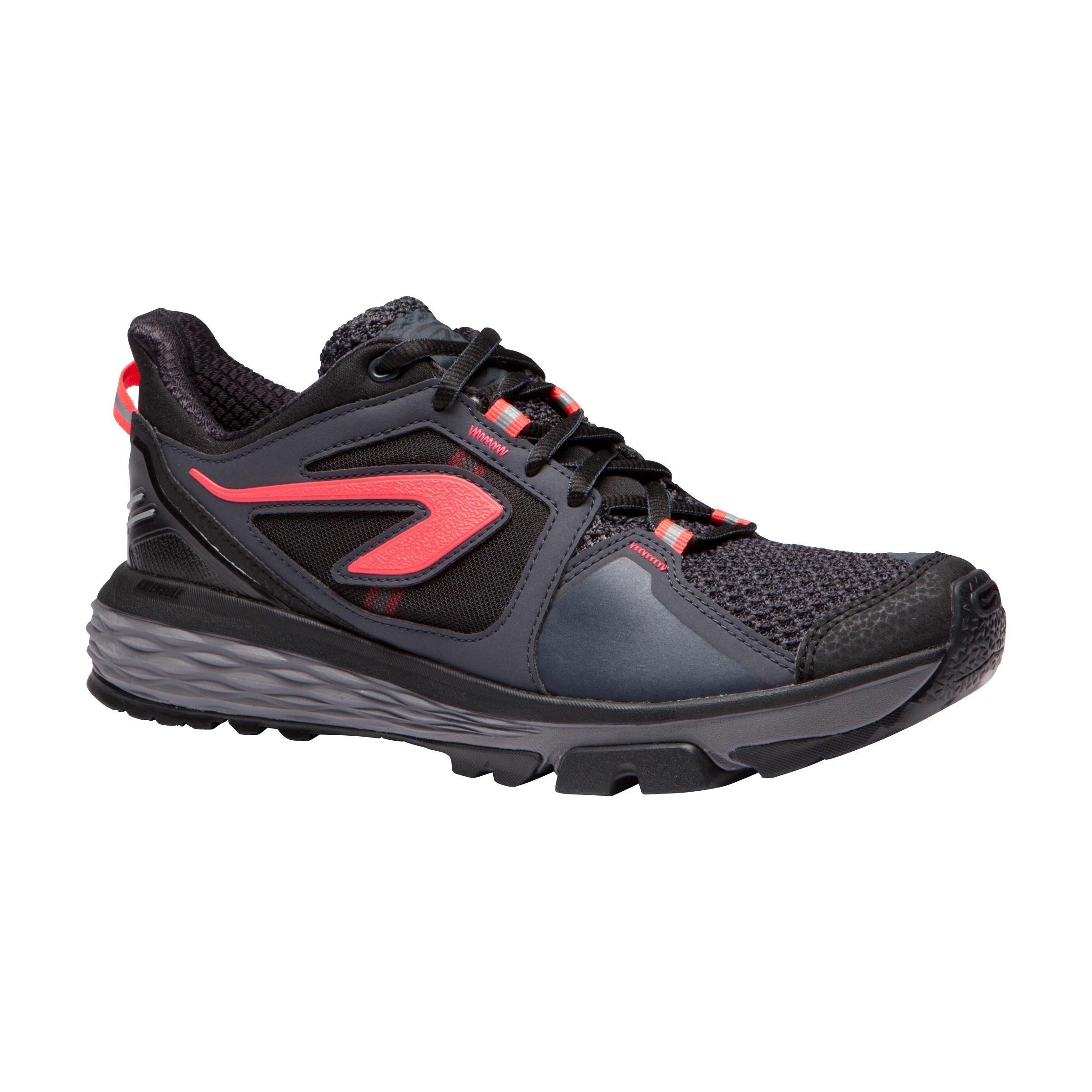 Kalenji Joggingschoenen voor dames Run Comfort Grip bordeaux/koraalrood