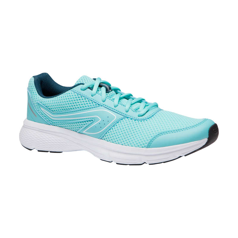 SCARPE RUNNING BENESSERE DONNA Running, Trail, Atletica - Scarpe donna RUN CUSHION verde   KALENJI - Scarpe Running