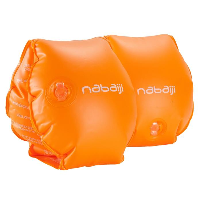 Brassards orange avec deux chambres de gonflages pour enfants de 11 à 30 kg - 156805
