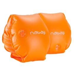 Manguitos naranja con dos cámaras de inflado para niños de 11 a 30 kg