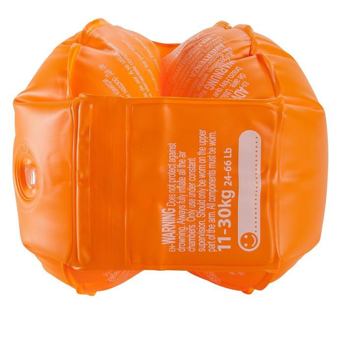 Brassards orange avec deux chambres de gonflages pour enfants de 11 à 30 kg - 156810