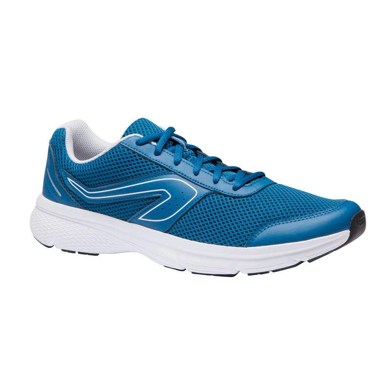 SCARPE RUNNING BENESSERE UOMO Running, Trail, Atletica - Scarpe uomo RUN CUSHION blu KALENJI - Running, Trail, Atletica
