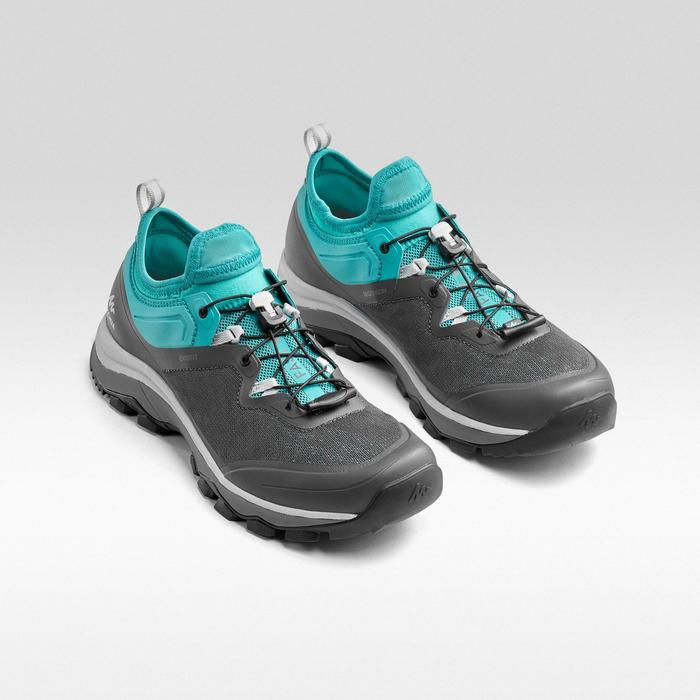 Women's Fast Hiking Boot FH500 - Grey Green Turquoise