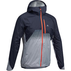 Jacke Speed Hiking FH900 Hybrid wasserdicht Herren blau/grau