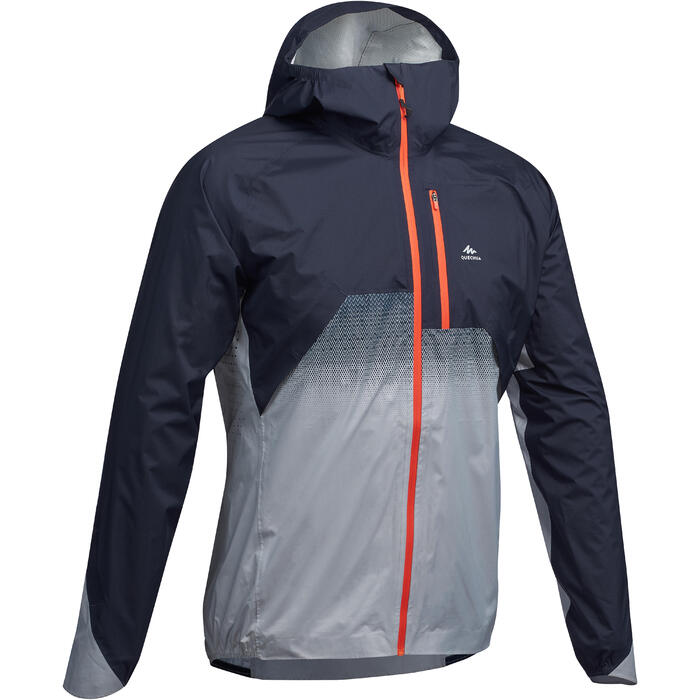 Men's Waterproof Fast Hiking Jacket FH900 Hybrid - Grey Blue