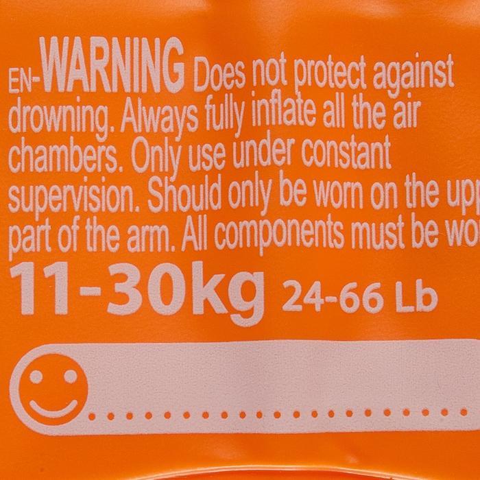 Brassards orange avec deux chambres de gonflages pour enfants de 11 à 30 kg - 156817