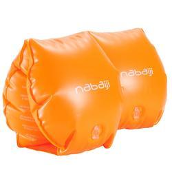 Manguitos naranja con dos cámaras de inflado para niños o adultos de 30 a 60 kg