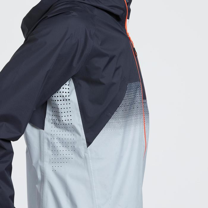男款防水極速健行外套FH900 Hybrid-灰藍