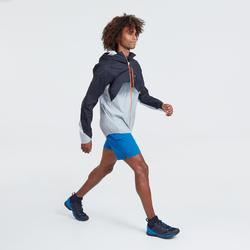 Veste imperméable de randonnée rapide Homme FH900 Hybride bleu gris