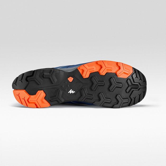 Chaussure de randonnée rapide FH500 bleue orange.