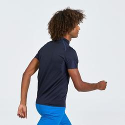 Heren T-shirt met korte mouwen voor fast hiking FH500 Helium marineblauw