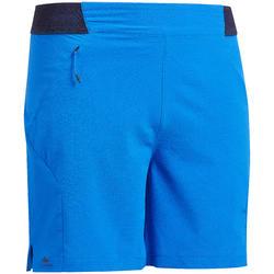 Short ultra léger - randonnée rapide - FH500 - Homme Bleu
