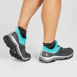 Chaussure de randonnée rapide FH500 femme gris vert turquoise