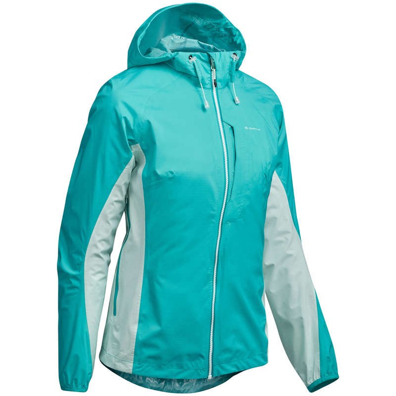 WOMEN FAST HIKING SHOES, APPAREL Hiking - FH500 HELIUM RAIN WOMEN'S JKT QUECHUA - Hiking Jackets