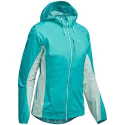 Jacke Speed Hiking FH500 Helium Rain wasserdicht Damen karibikblau