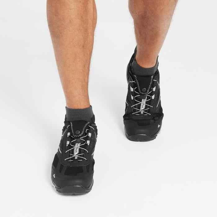 Schoenen voor fast hiking, voor heren, FH500 Helium zwart