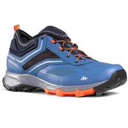 Schoenen voor fast hiking FH500 blauw/oranje