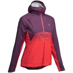 Jacke Speed Hiking FH900 Hybrid wasserdicht Damen rot/pflaume